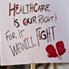 "A protester's sign at the ""Hands Off Our Health Care"" rally Jan. 15 in Philadelphia. (Photo: Ricky Fitchett/Zuma Press/Newscom)"
