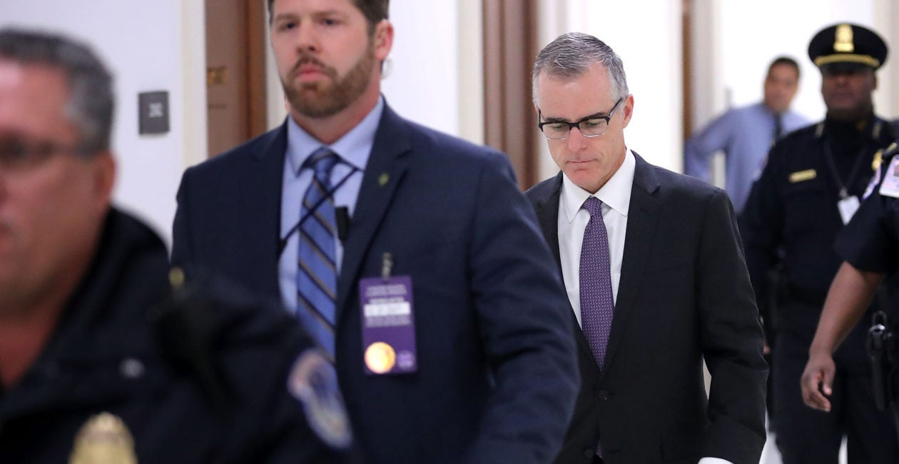 Former FBI Official McCabe Should Be Prosecuted–Justice Demands It