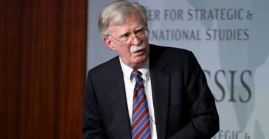 "Former U.S. National Security Advisor John Bolton appears at the Center for Strategic and International Studies before delivering remarks September 30, 2019 in Washington, DC. Bolton spoke on the topic of , ""Navigating Geostrategic Flux in Asia: The United States and Korea."" (Photo by Win McNamee/Getty Images)"