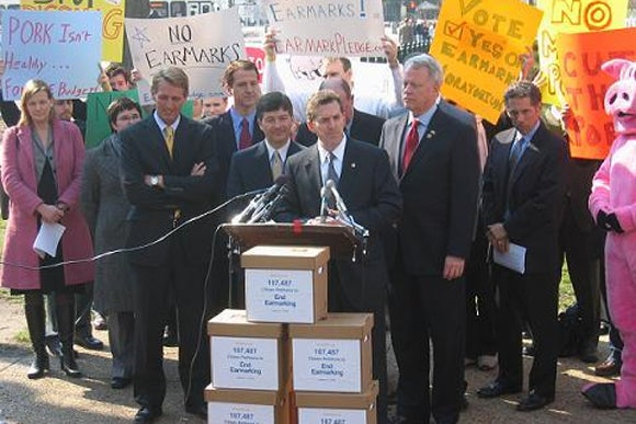 DeMint Earmark Press Conference (Photo by AFP)