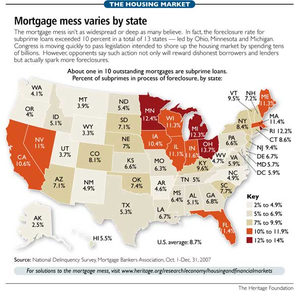 Mortgage Mess Varies by State