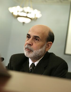 Federal Reserve Chairman Ben Bernanke testifies during a House hearing