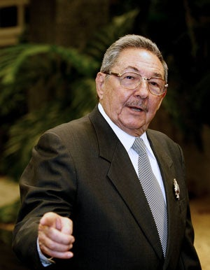 Raul Castro (Photo by Jose Goitia/Newscom)