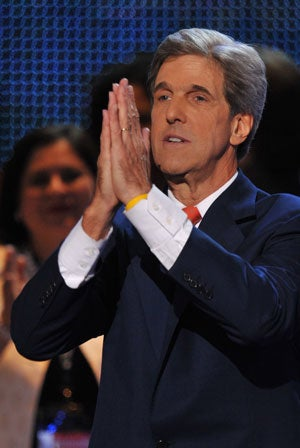 Sen. John Kerry at Democratic National Convention (Photo by Paul J. Richards/Newscom)