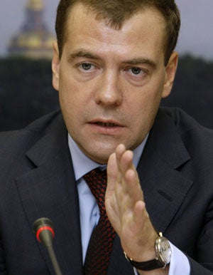Russia President Dmitry Medvedev (Photo by Anatoli Zhdanov/Newscom)