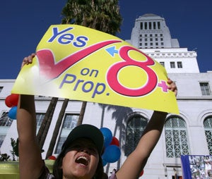 California's Proposition 8 (Photo by Newscom)
