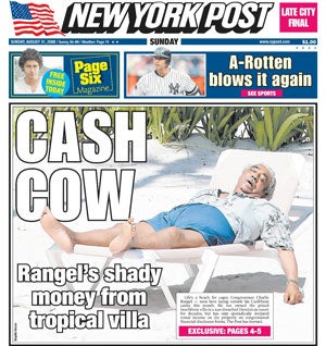 Congressman Rangel Enjoys His Holiday