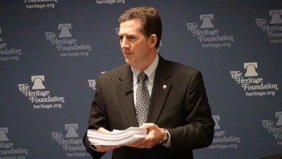 Sen. Jim DeMint at The Heritage Foundation