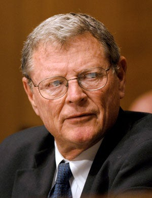 United States Senator James M. Inhofe (Republican of Oklahoma)