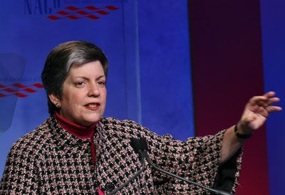 US Homeland Security chief Janet Napolitano