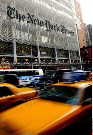 New York , NY - The New York Times Manhattan headquarters building.