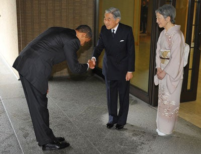 Obama in japan not a bow but a kowtow m4hsunfo