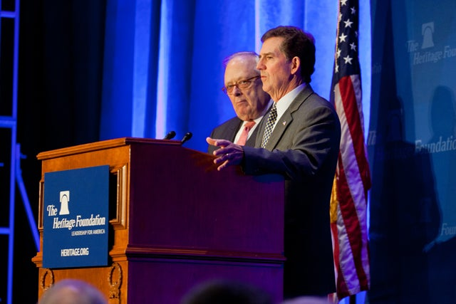 Ed Feulner and Jim DeMint