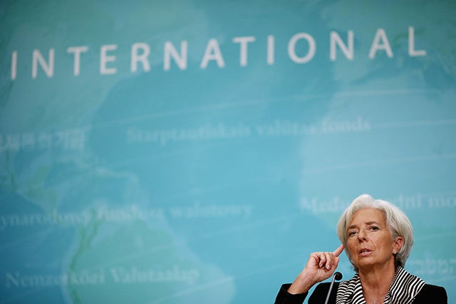 International Monetary Fund Managing Director Christine Lagarde. Photo: Chip Somodevilla/Getty Images