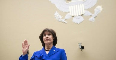 Lois Lerner at a hearing of the House Oversight and Government Reform Committee in May. (Photo: Brendan Smialowski/AFP/Newscom)