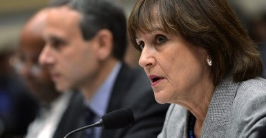 Lois Lerner at a Capitol Hill hearing. (Photo: Shawn Thew/EPA/Newscom)