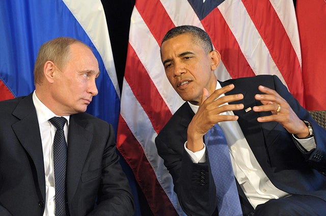 Presidents Putin and Obama. Photo: Newscom