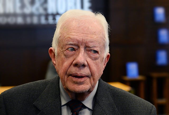 Former U.S. President Jimmy Carter. Photo: UPI/Jim Ruymen