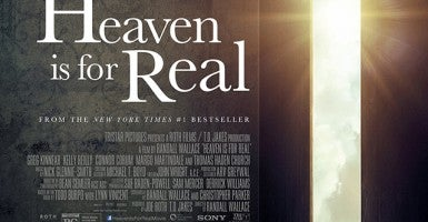 "Detail from a poster for the film ""Heaven Is for Real."" Photo: Sony Pictures/Unimedia Images/Sony Pictures/Newscom"