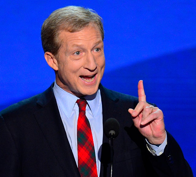 Tom Steyer, co-founder of Advanced Energy Economy, speaks to the delegates on the second night of the 2012 Democratic National Convention at Time Warner Cable Arena, Wednesday, September 5, 2012. (Photo: Harry E. Walker/MCT/ABACAUSA.COM)