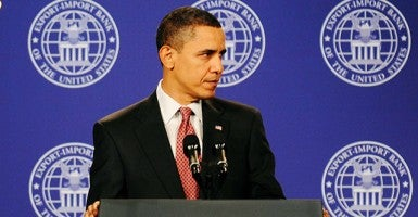 President Obama Remarks on Export-Import Bank's Annual Conference in 2009.(Photo: Yacouba Tanou/Maxppp/ZUMAPRESS.com)