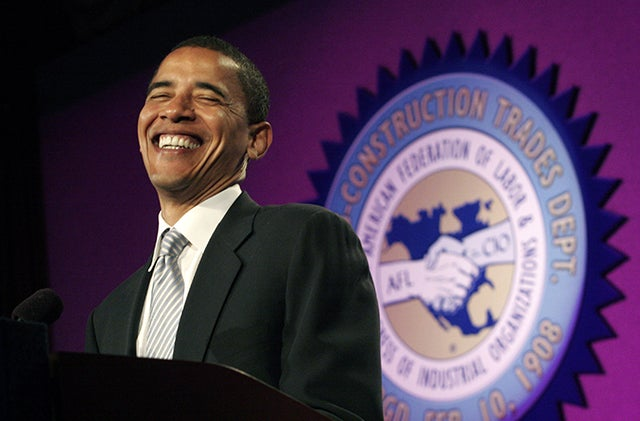 Then-Senator Barack Obama at an AFL-CIO Conference in 2005. (Photo: Chip Somodevilla/Getty Images)