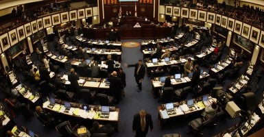 An overall photo from the fifth floor gallery of the floor of the Florida House of Representatives. (Photo: St Petersburg Times/Tampa Bay Times/ZUMAPRESS.com)