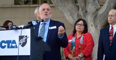 CTA press conference on Vergara v. California trial in February 2014. (Photo: Neon Tommy/Creative Commons)