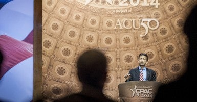 'We will not be bullied by the federal government.': Louisiana Gov. Bobby Jindal, speaking here at CPAC, says of Common Core.  (Photo: Pete Marovich/MCT/Newscom)