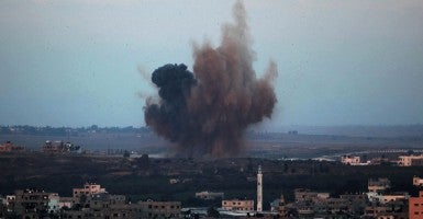 Israel launched air strikes across the Gaza Strip in response to Palestinian rockets. (Photo: Newscom)