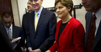 Sen. Rob Portman, R-Ohio; and Sen. Jeanne Shaheen, D-N.H. (Photo: Chris Maddaloni/CQ Roll Call/Newscom)