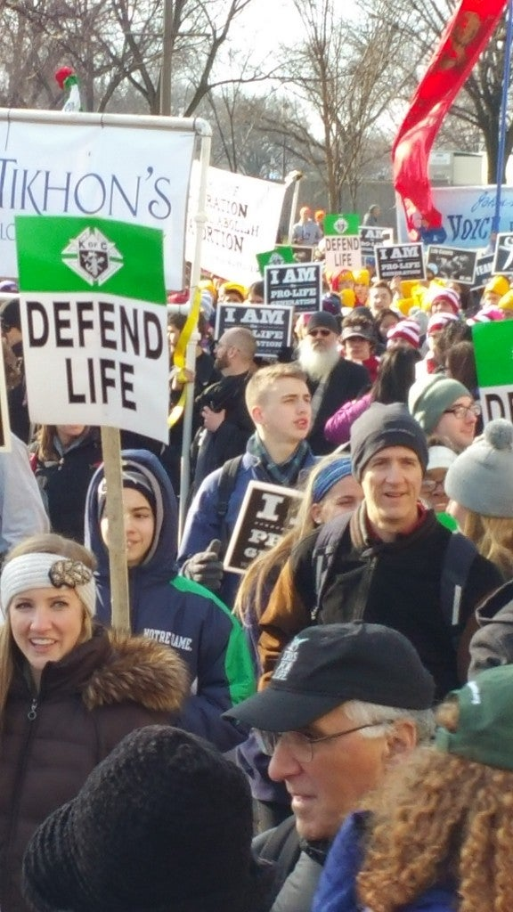 Participants during the March for Life walked for a purpose. (Photo: Kevin Mooney)