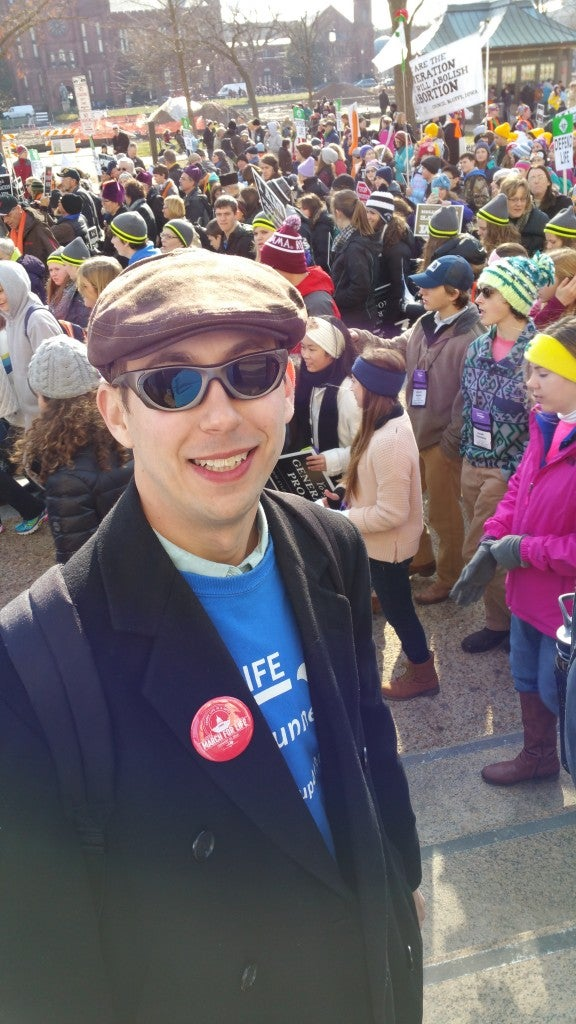 Josh Bachman, an attorney from Kansas City, participated in the March for Life.