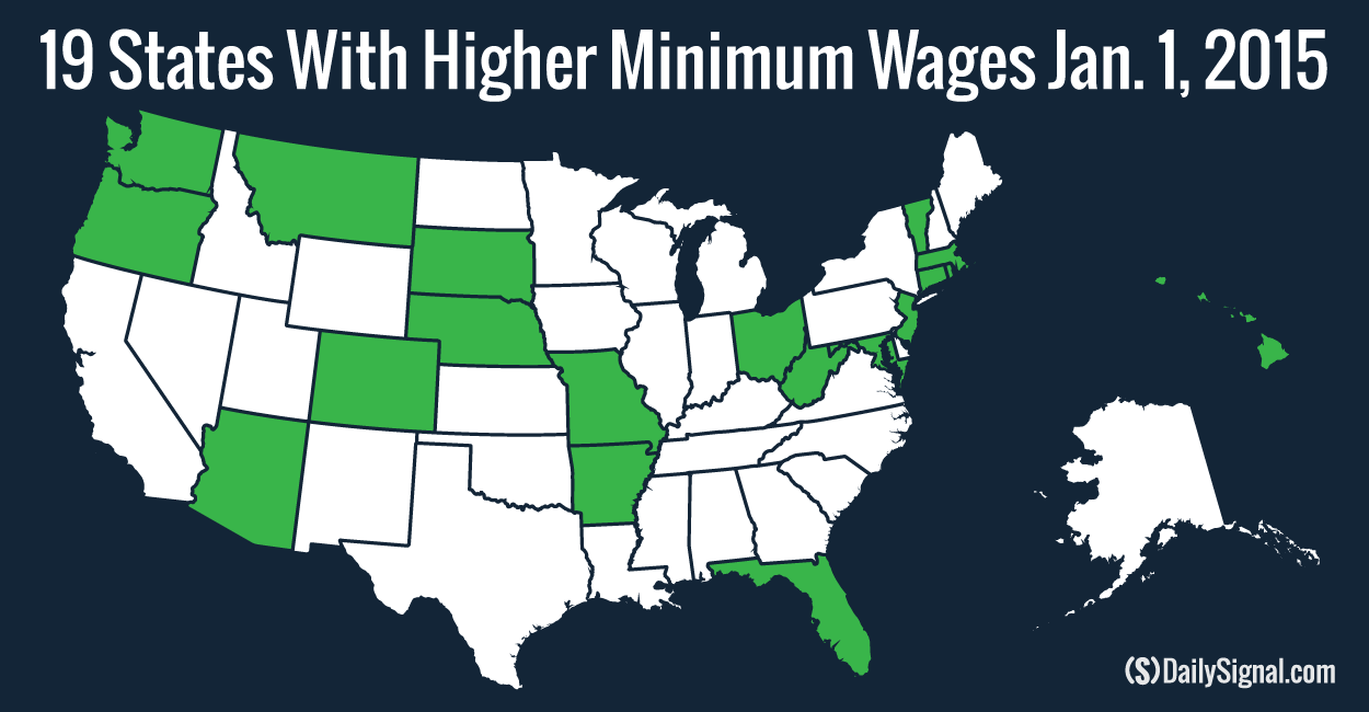 Did Your State Raise Its Minimum Wage On Jan - Minimum wage us map