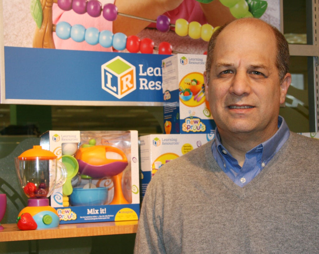 Rick Woldenberg, CEO of Learning Resources, a family-owned company based in Illinois, worries a tax on imports would force him to raise prices. (Photo: Courtesy of Rick Woldenberg)
