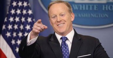 "Sean Spicer says Biden has a ""Dangerous Plan for America."""