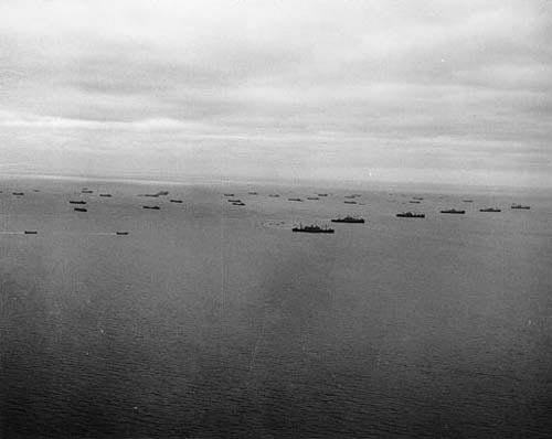 Ships carry Soldiers and equipment across the English Channel toward the coast of Normandy. (Photo: US Army/Flickr)