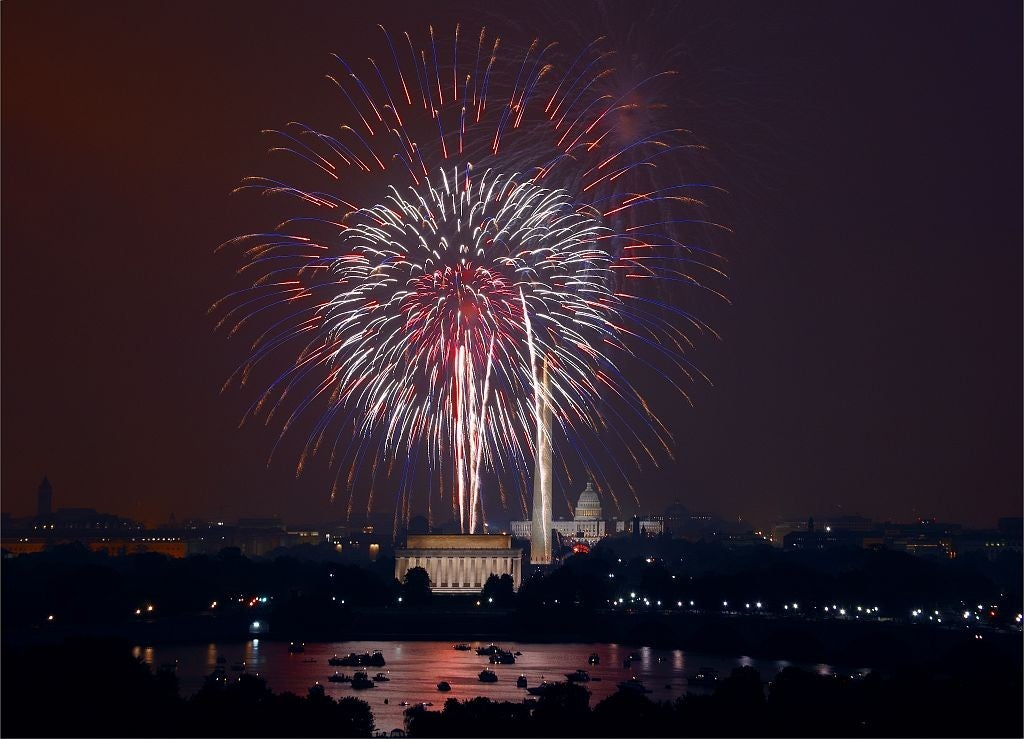 Fireworks over the Nation's Capital to celebrate the holiday in 2008. (Photo: Carol Highsmith/ The Library of Congress)