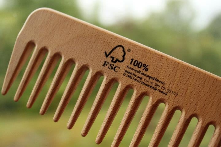 An FSC-branded comb. (Photo: Forest Stewardship Council  Facebook via Olivia Harmon)