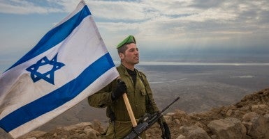 An Israeli soldier. (Photo: IDF/Chameleons Eye/Newscom)