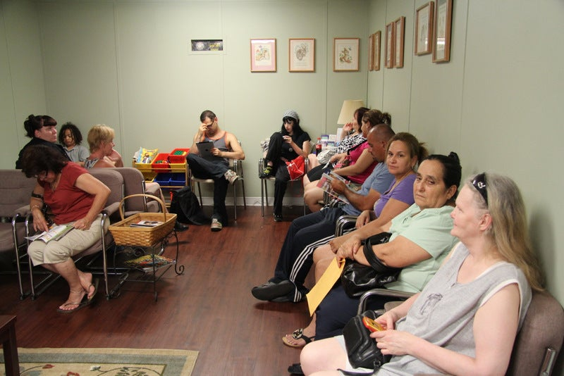 Patients wait to see the doctors at the Zarephath Health Center. (Photo: Dr. Alieta Eck)