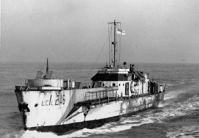 Sidney Alexander Parker's wartime ship, infantry landing craft LCI(L) 246. He was second in command of the vessel which was involved in the D-Day landings of 1944. (Photo: Roger Marks/Flickr)