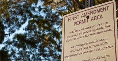 "A ""First Amendment Zone"" at Diamond Head National Monument. (Photo: Sarah Sosiak/Creative Commons)"