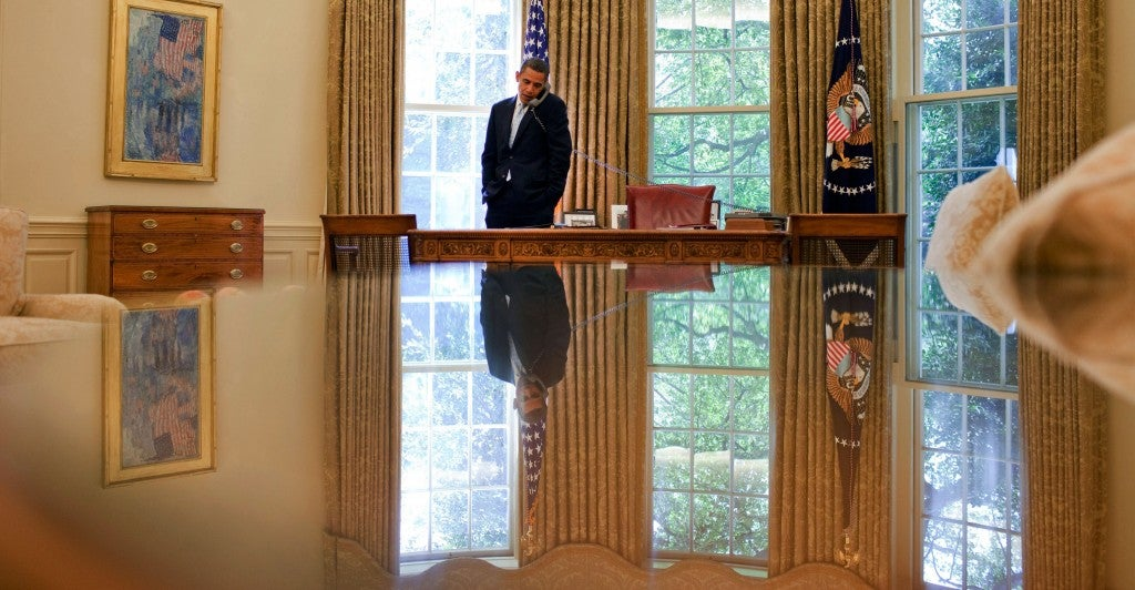 President Obama in the Oval Office. (Photo: Pete Souza/White House)