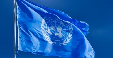 United Nations flag. (Photo:  Getty Images)