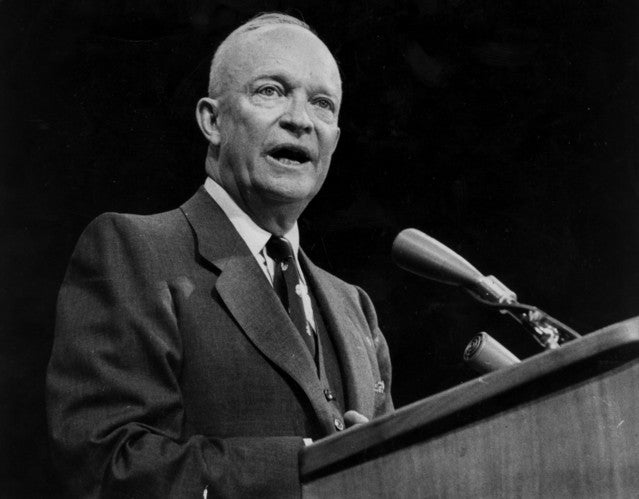President Dwight D. Eisenhower.