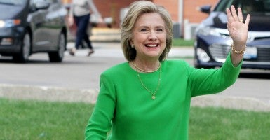 Hillary Clinton praised the Iran nuclear deal, but said she understands those who worry about verification measures. (Photo: Kevin E. Schmidt/ZUMA Press/Newscom)