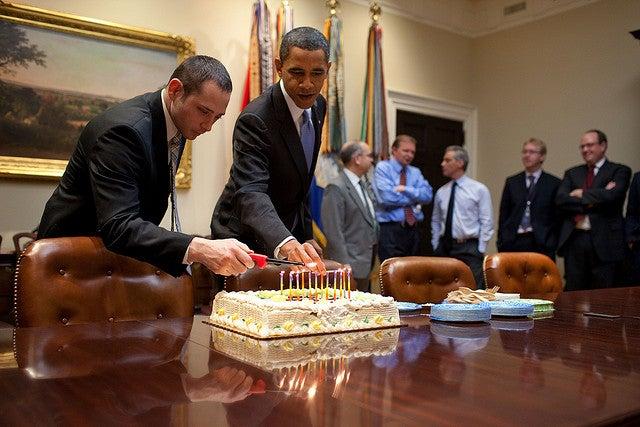 Obama birthday cake