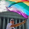 Vin Testa of Washington, D.C., demonstrates outside the U.S. Supreme Court. (Photo: Pete Marovich/ZUMA Press/Newscom)
