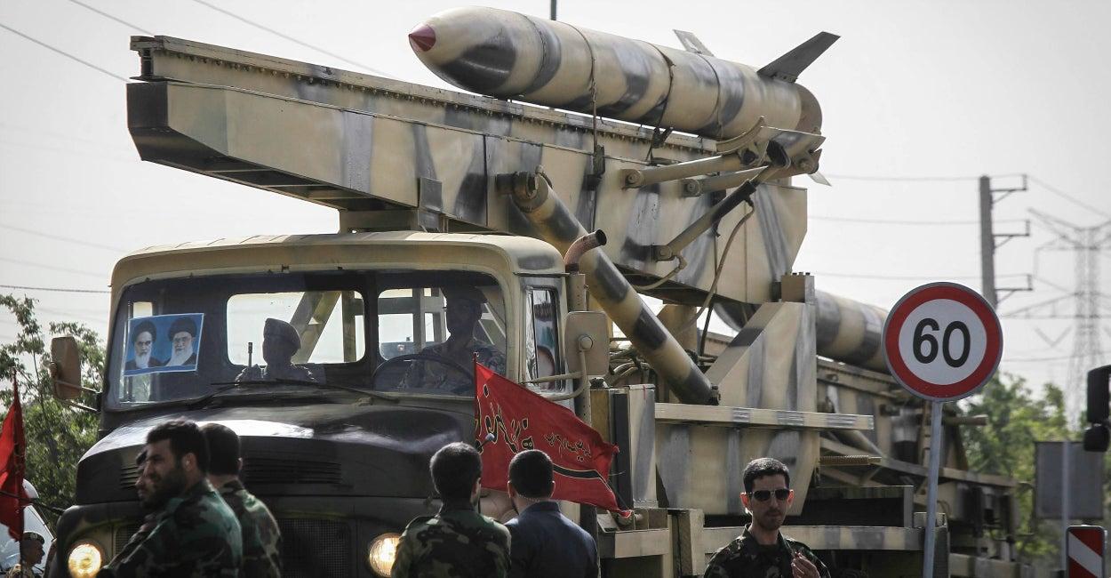 Irán, misil en desfile